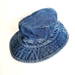 Denim Jean Bucket Hat Y2K Style Size X Large Retro